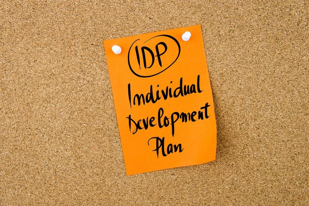 anotação sobre plano de desenvolvimento individual