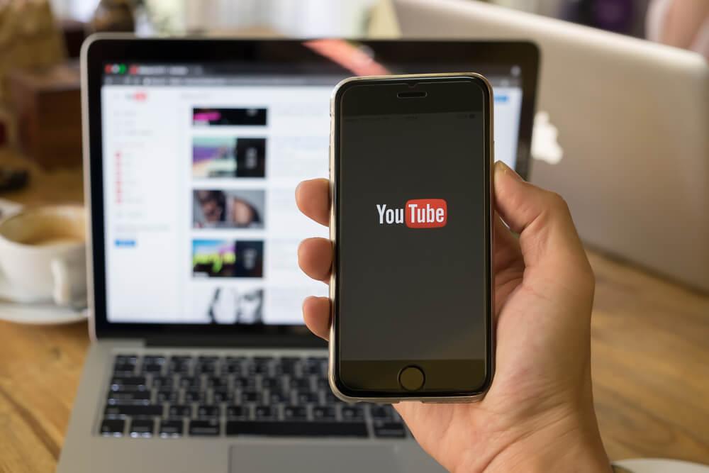 aplicativo e site Youtube