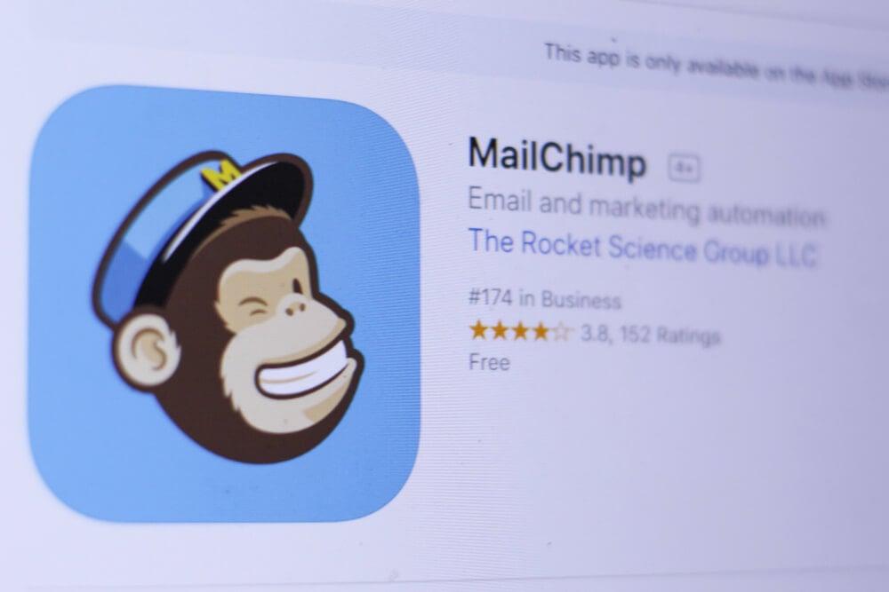 aplicativo MailChimp na loja de apps
