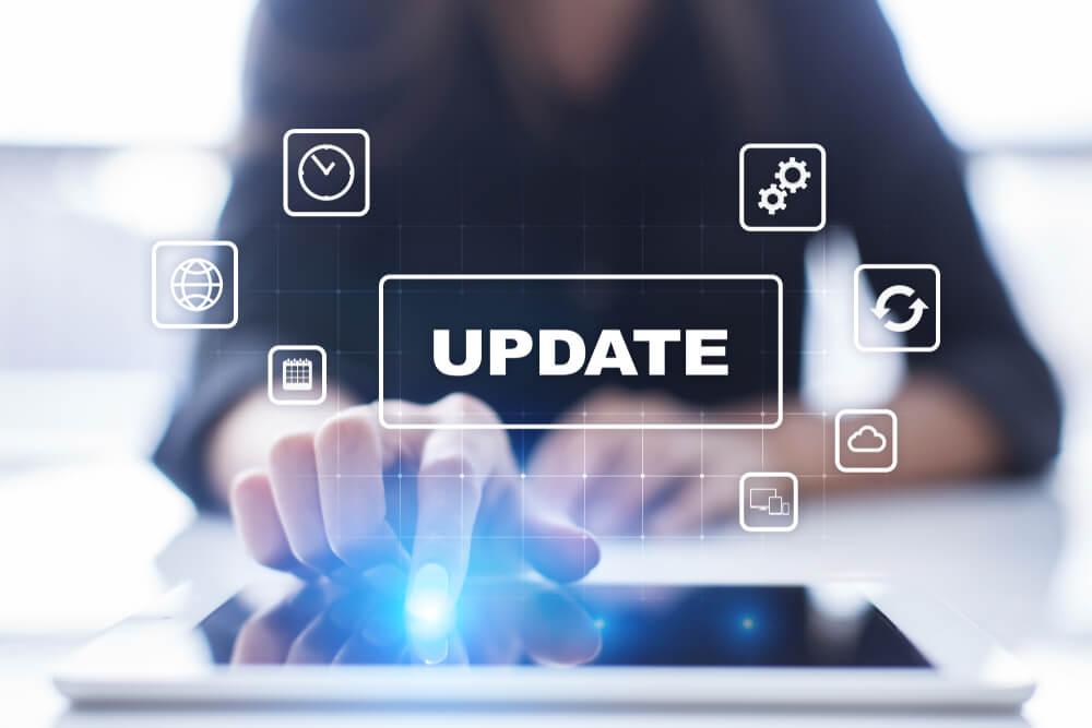 atualização de dispositivos digitais