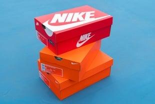 caixas de calçados da marca Nike
