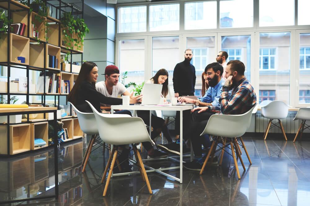 equipe em startup