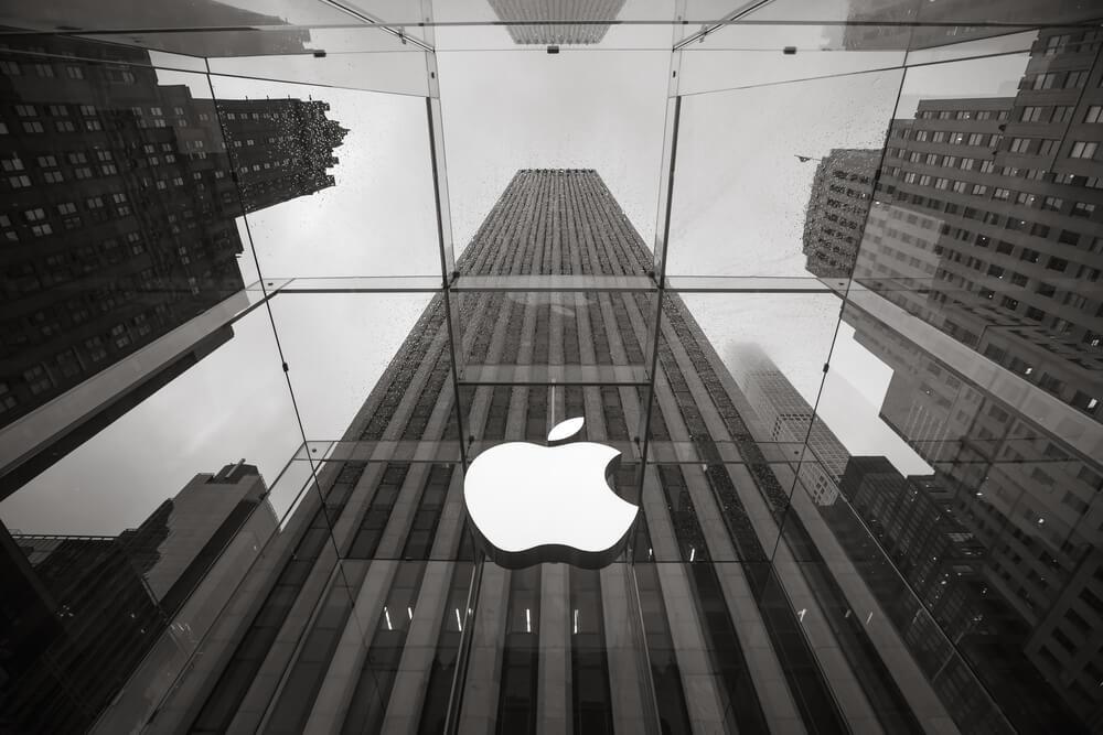 foto da fachada da empresa Apple