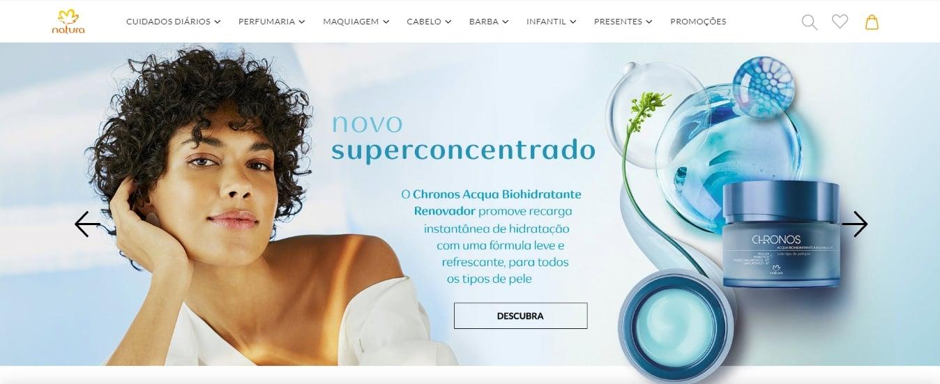 home page da natura