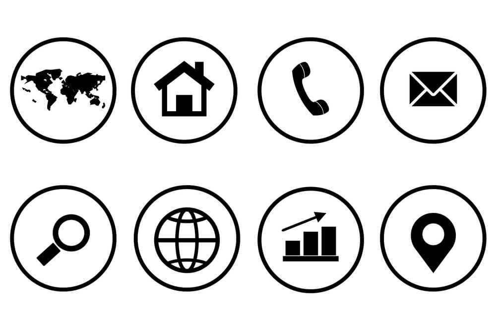 ícones básicos de internet