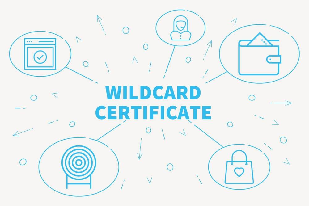 ilustração com título de WildCard Certificate