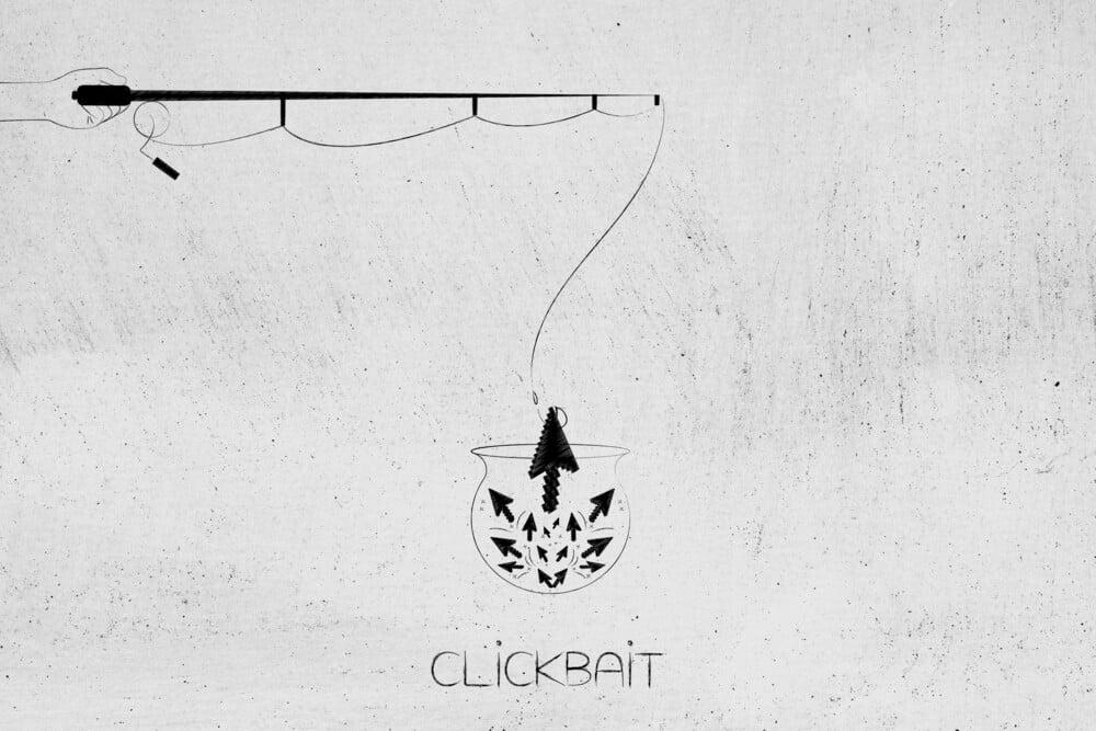 ilustração de aquário e vara de pesca pescando clicks