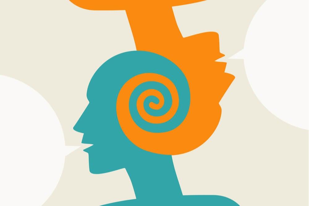 ilustração de cabeças humanas conectadas