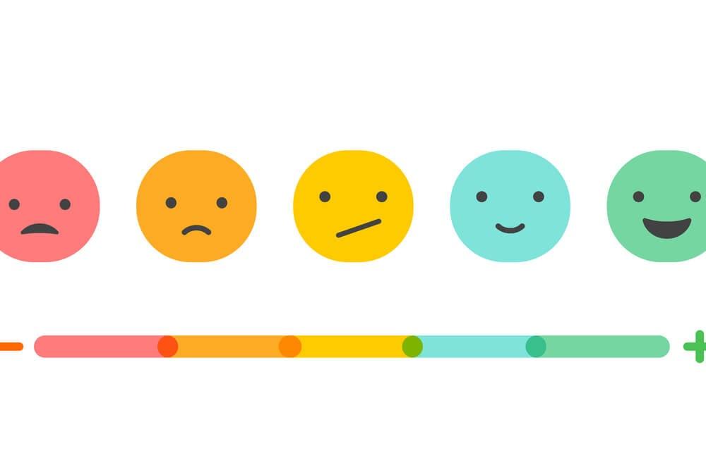 ilustração de escala de feedback