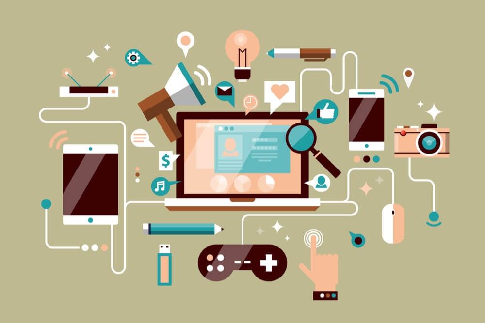 ilustração de ferramentas digitais