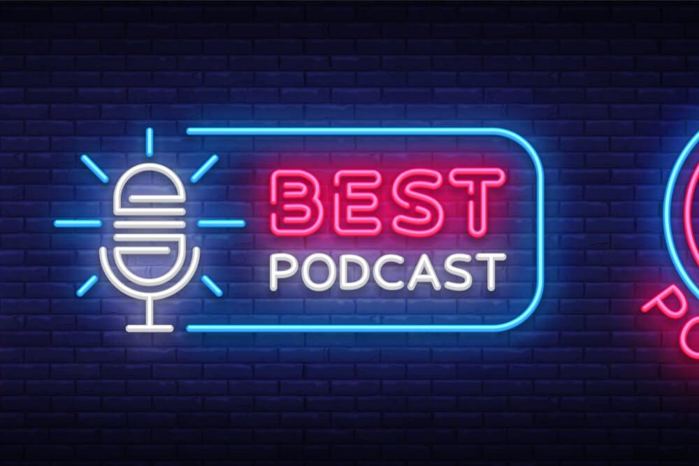 ilustração de led sobre podcast