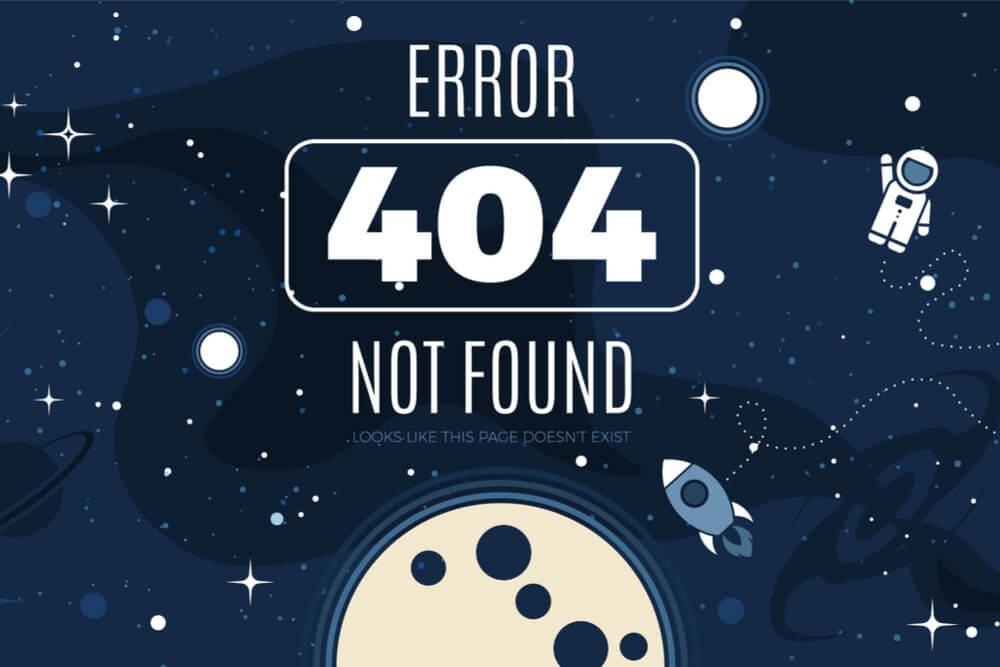 ilustração de página de erro web