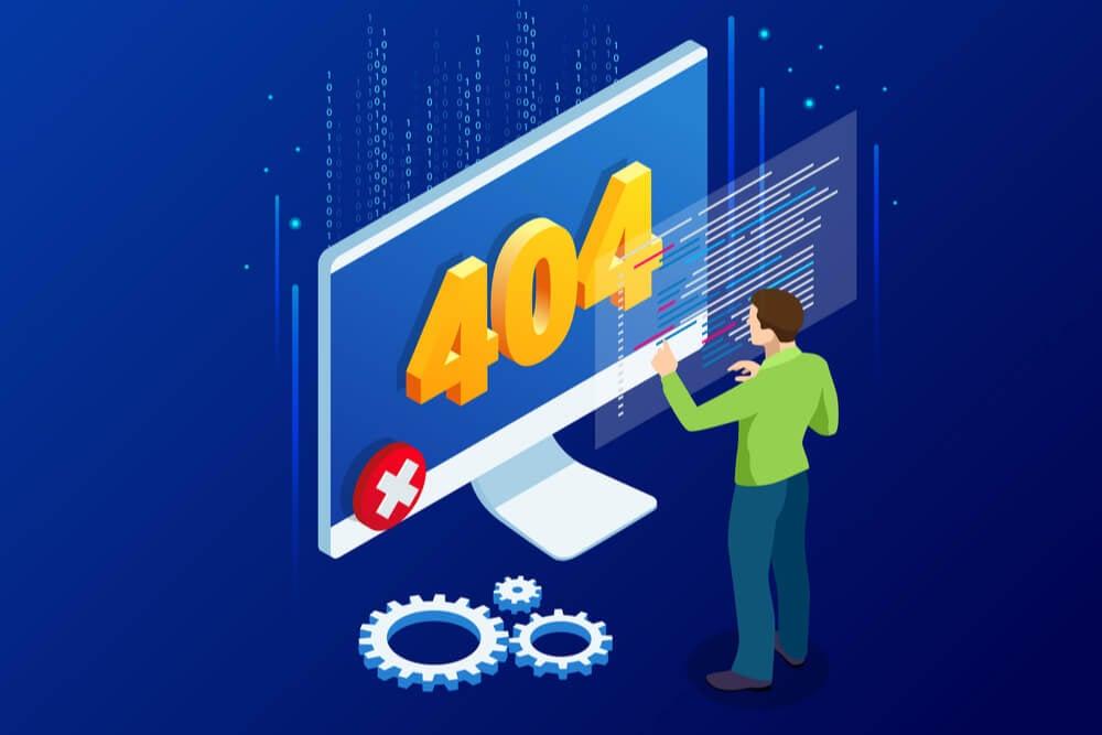 ilustração erro web 404 not found