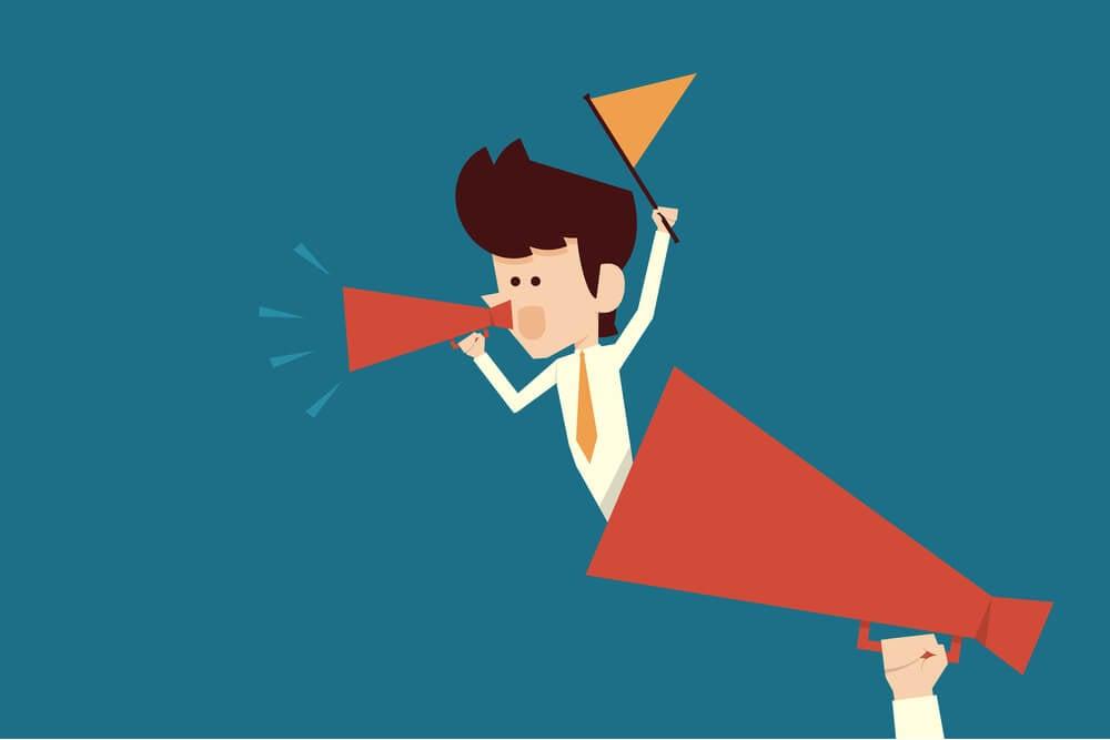 ilustração representando call to action
