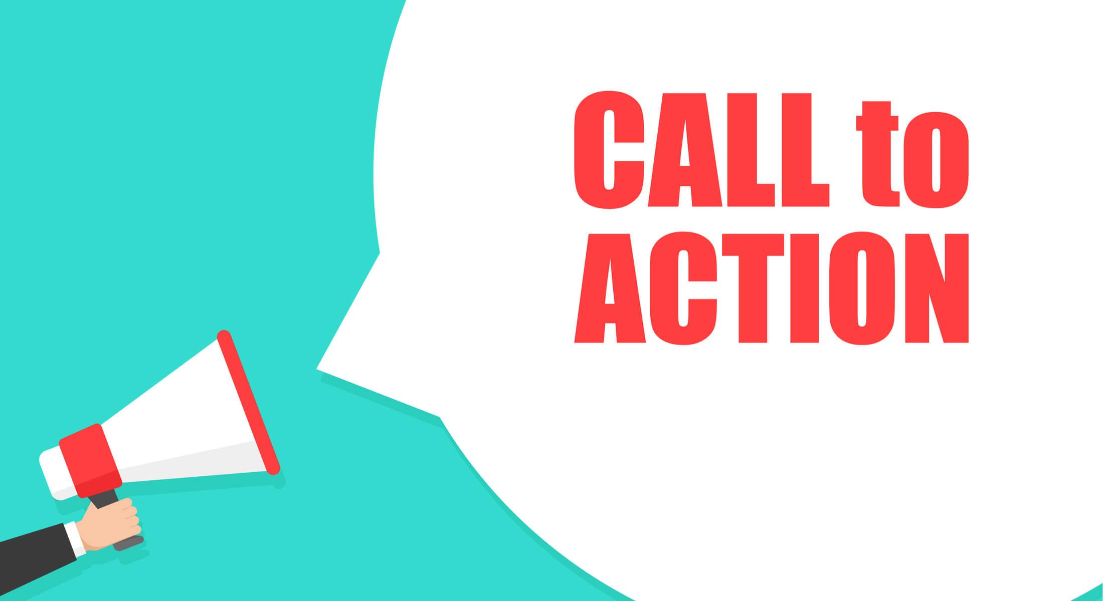 ilustração sobre call to action