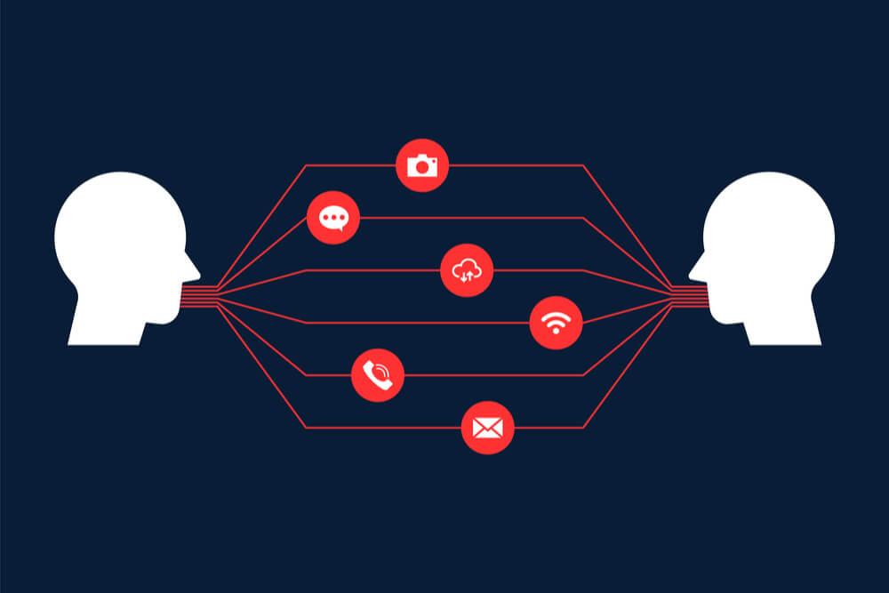 ilustração sobre canais de comunicação