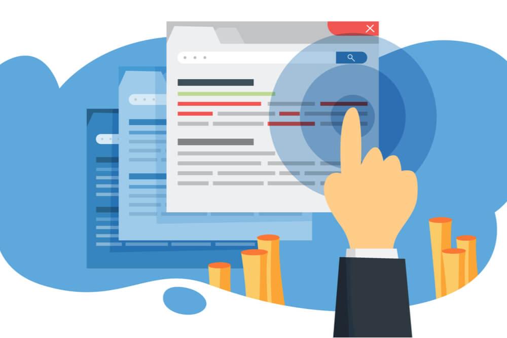 ilustração sobre click rate