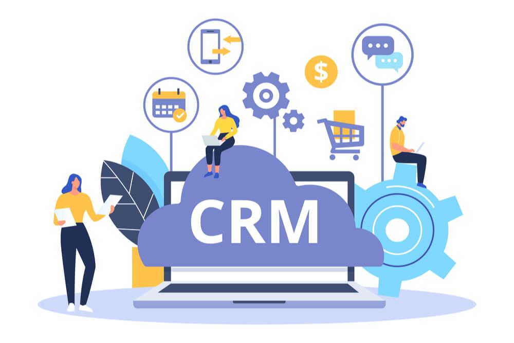 ilustração sobre CRM