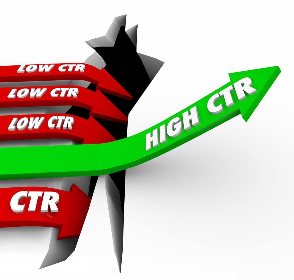 ilustração sobre CTR baixo e alto