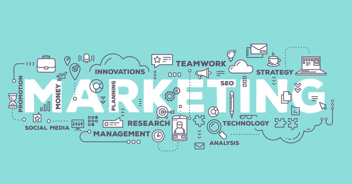ilustração sobre Marketing