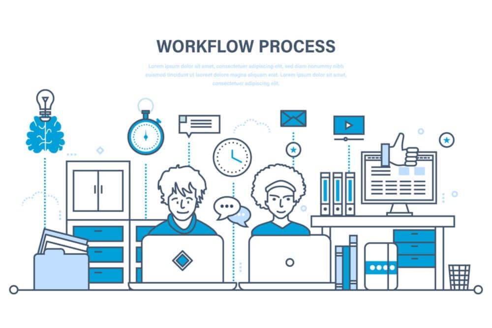 ilustração sobre workflow process