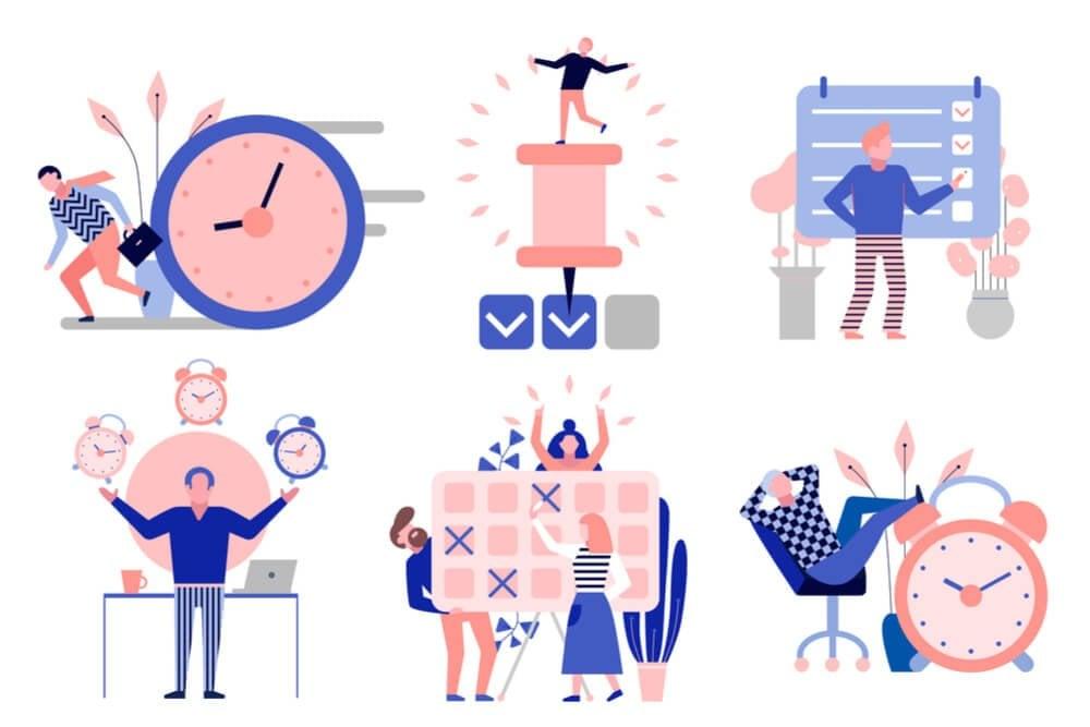 ilustrações de ícones sobre workflow