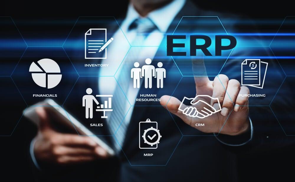 ilustrações e ícones relacionados a ERP