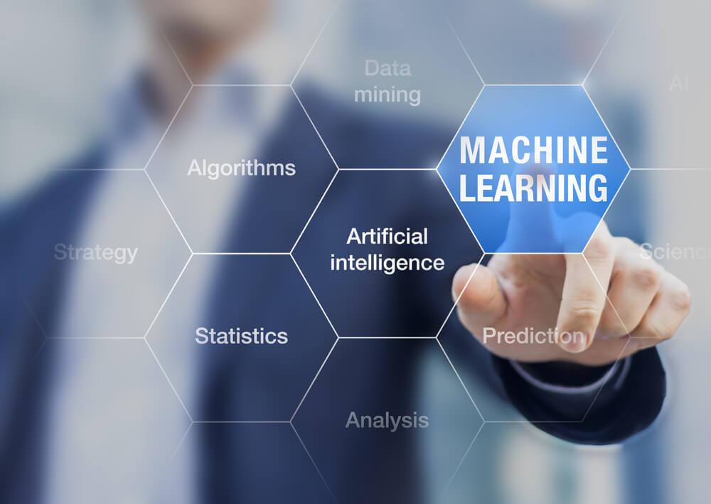 imagem de homem engravatado com título sobre machine learning e relacionados