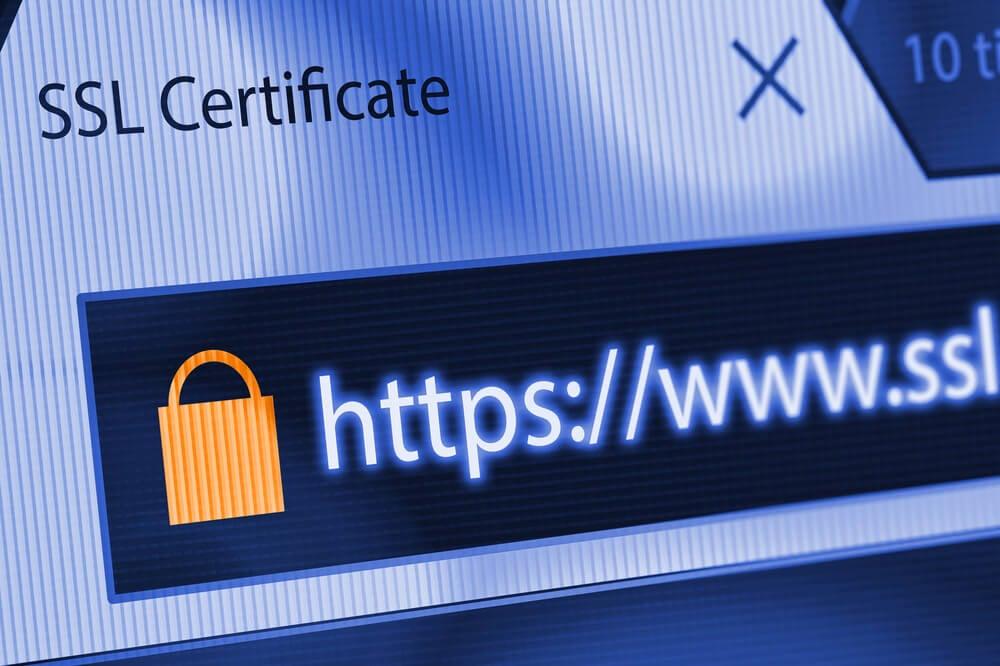 janela de SSL Certificate