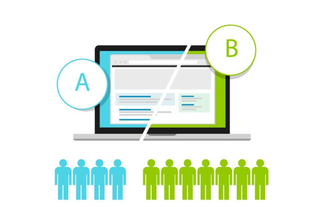 laptop com teste A/B