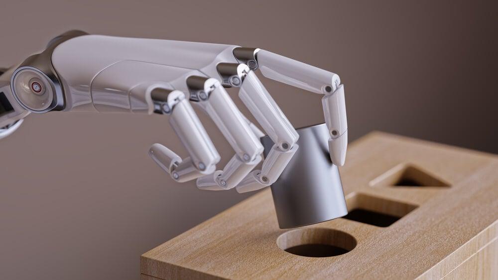 mão robótica inteligencia artificial