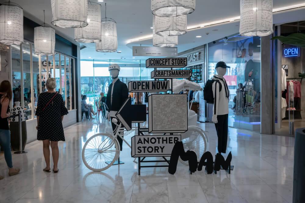 trade marketing visual em centro de compras