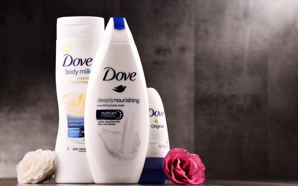 produtos da marca de cosméticos Dove