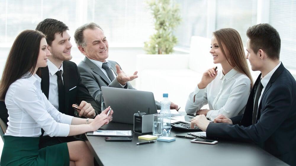 reunião empresarial de equipe