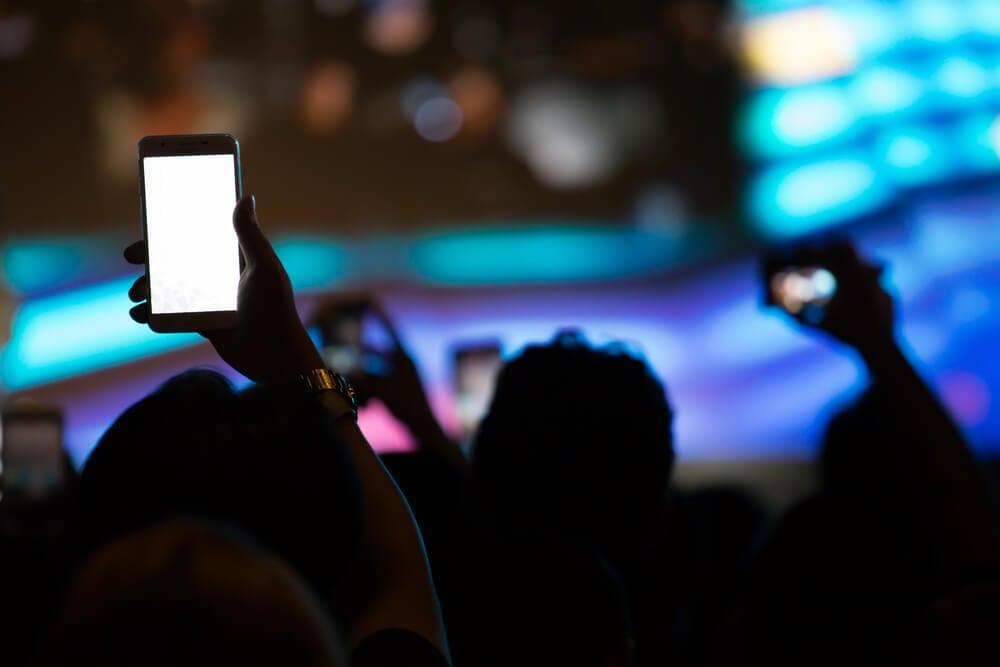 shows gravado pelo celular