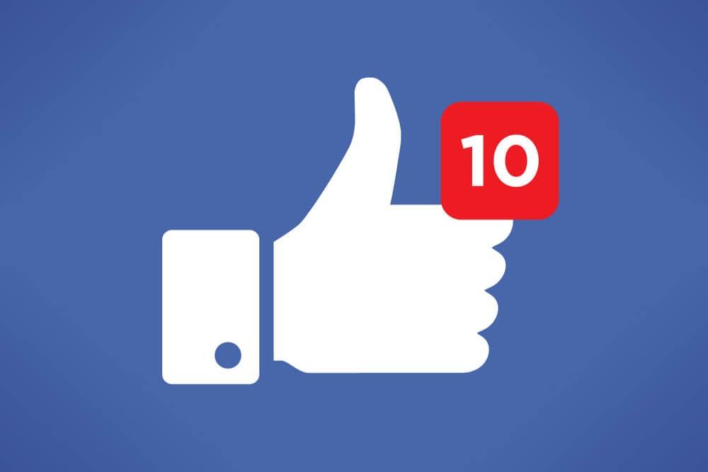 símbolo de curtir do facebook