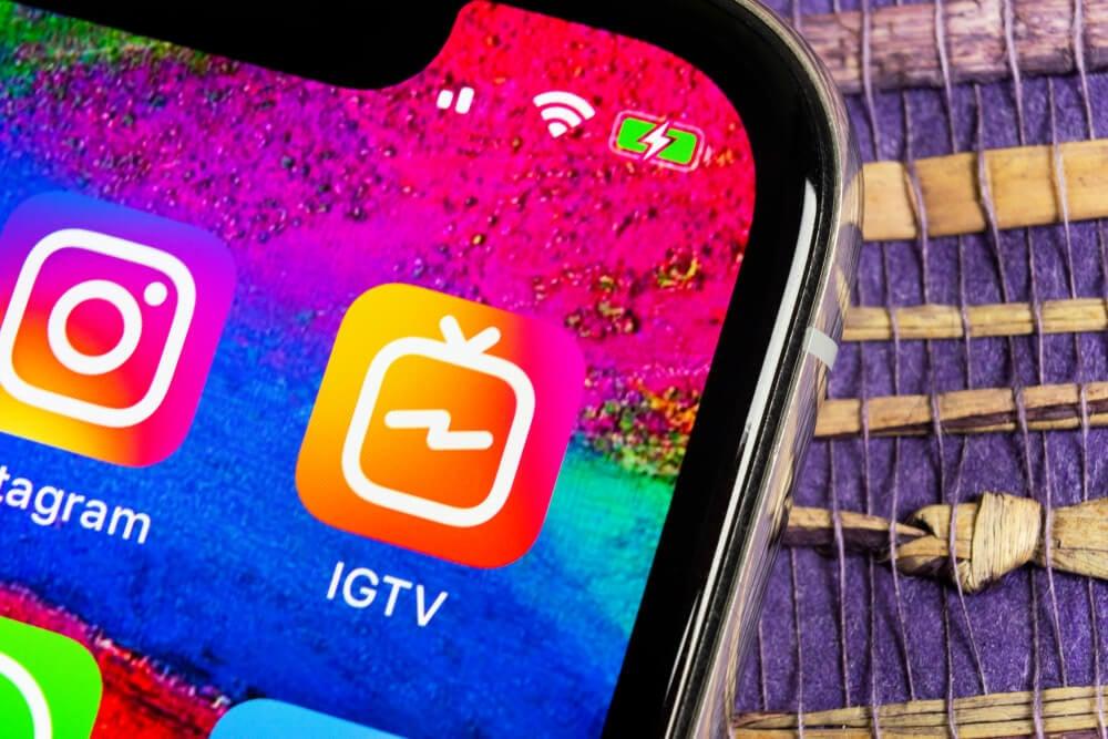 smartphone e os atalhos do instagram e IGTV