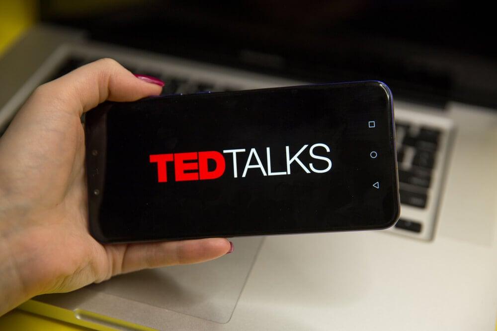tela de abertura do aplicativo mobile TED Talks