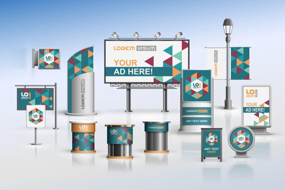 várias abordagens de publicidade visual