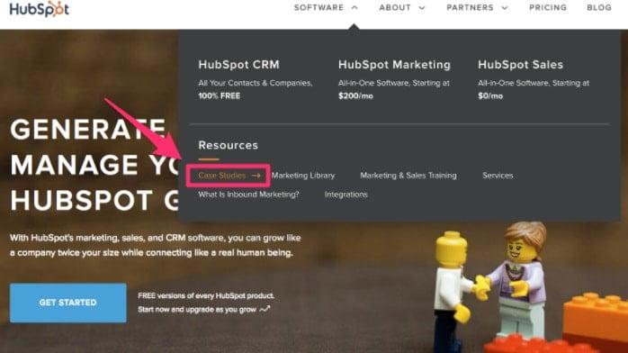 captura de tela do site HubSpot