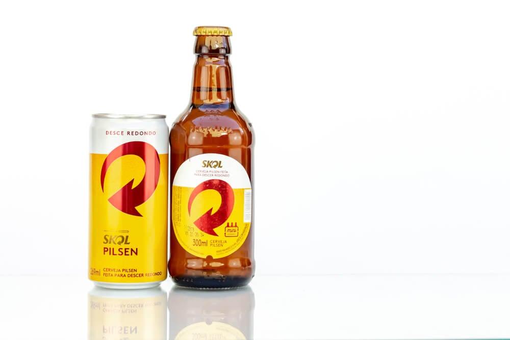 cerveja pilsen brasileira Skol