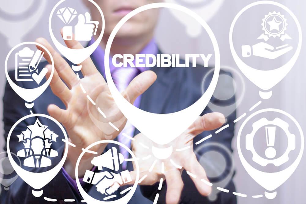 diagrama de símbolos sobre credibilidade