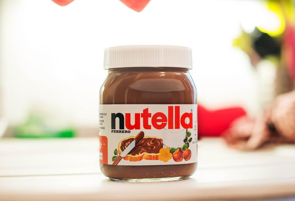 embalagem de creme de avelã nutella como exemplo de fanpage