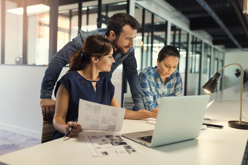 equipe profissional em administração na área de marketing