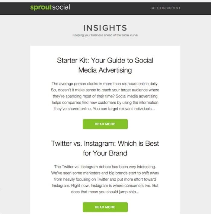 exemplo da marca de engajamento social Sprout Social