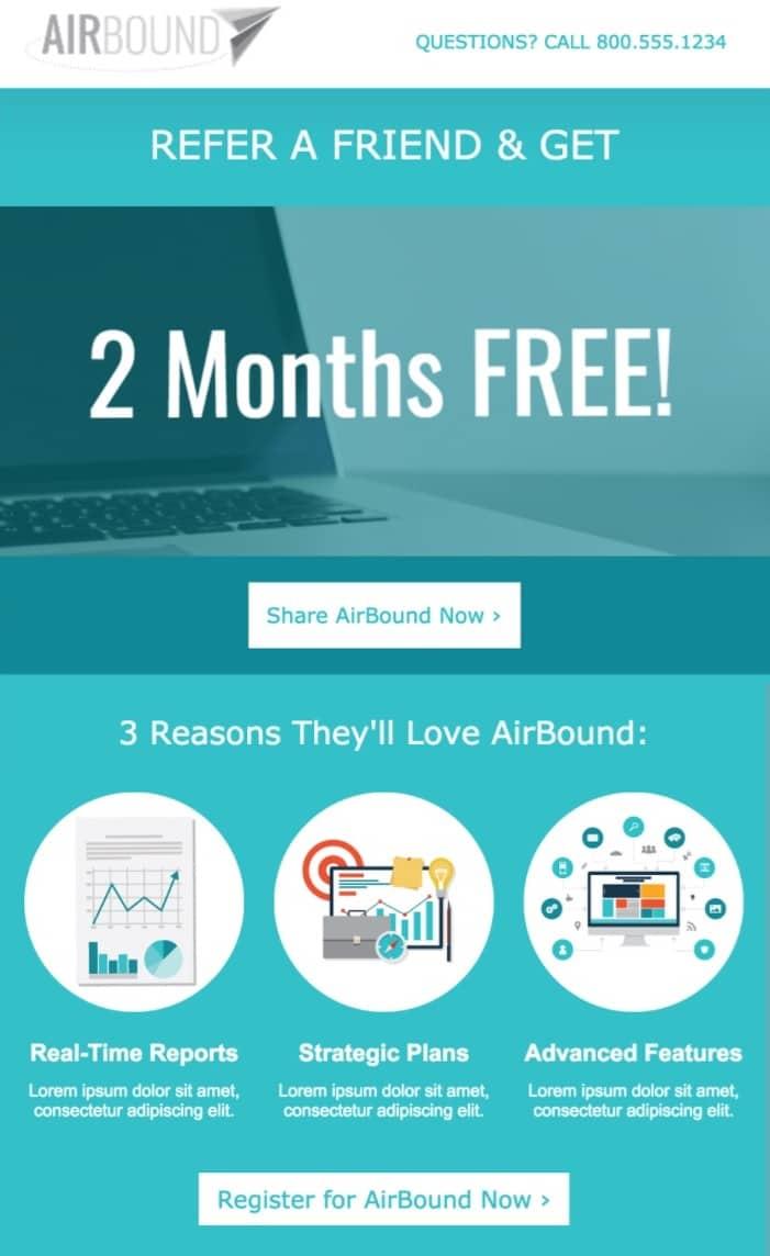 exemplo de oferta AirBound