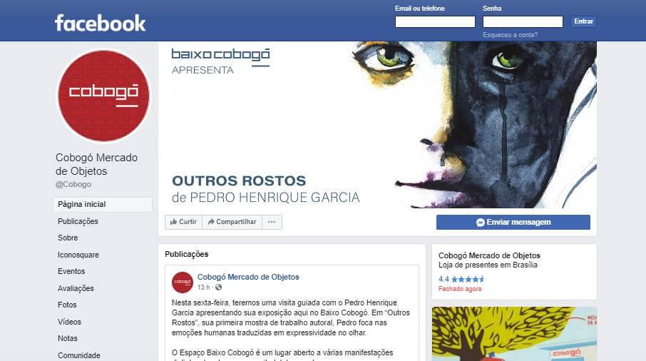 fanpage Cobogó Mercado de Objetosno facebook