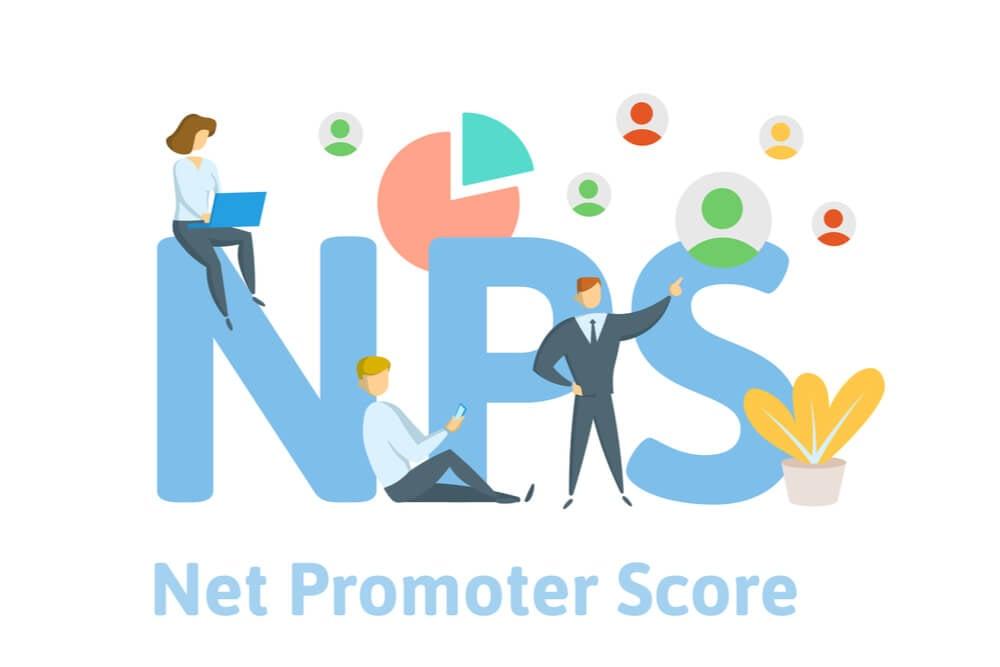 ilustração da sigla NPS e significado Net Promoter Score