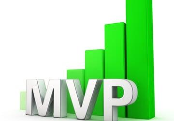 ilustração de gráfico crescente com sigla MVP