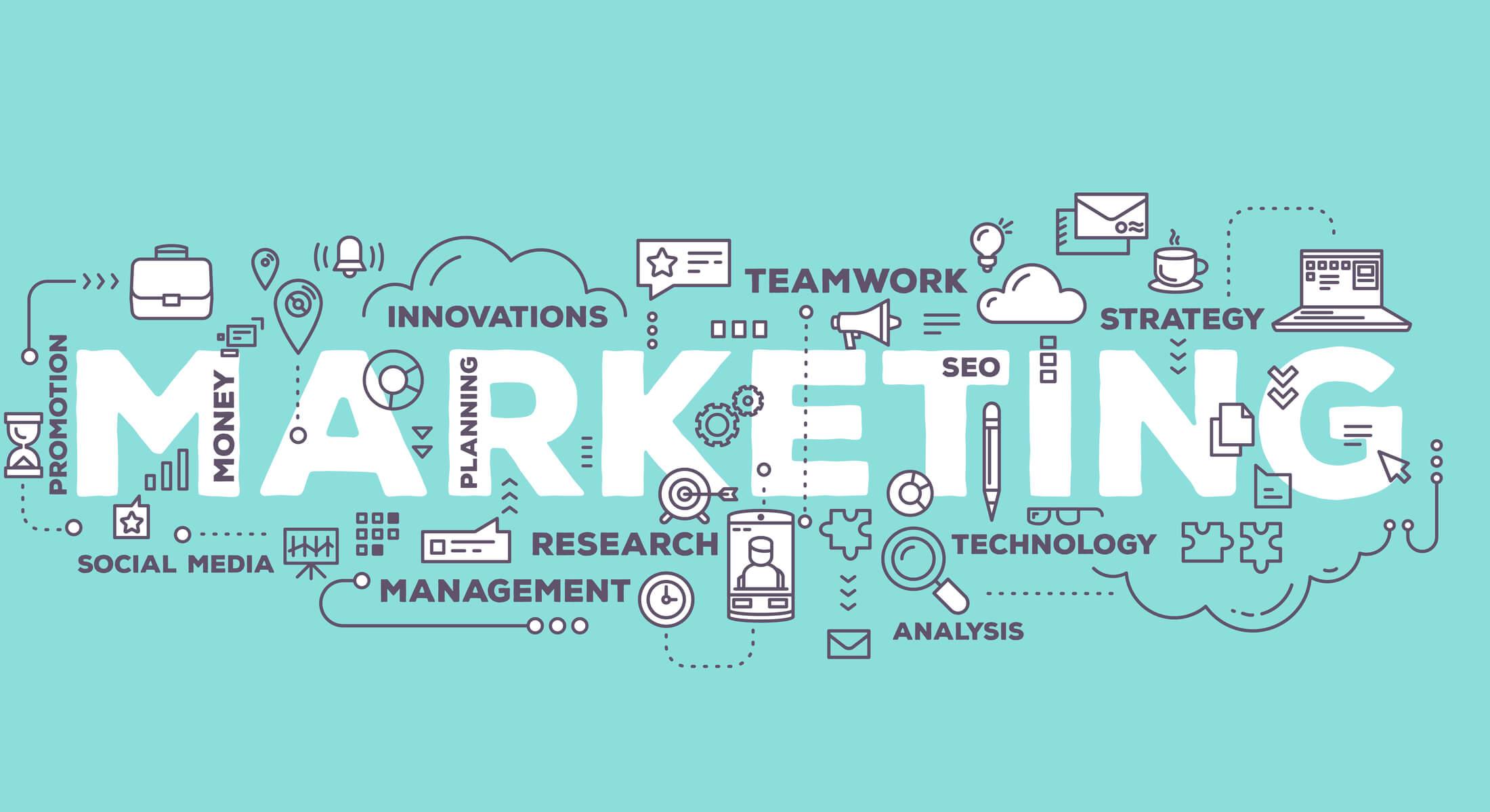 ilustração de marketing e termos relacionados